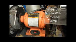 Harbor Freight Bench Grinder Stand Harbor Freight 8 Inch Bench Grinder Youtube
