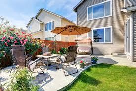 How To Design A Patio Area Beautiful Landscape Design For Backyard Garden And Patio Area
