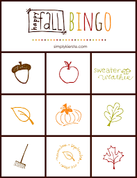 Halloween Bingo Free Printable Cards by Fall Bingo Game Free Printable Simply Kierste Design Co