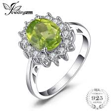 peridot engagement rings jewelrypalace 2 74ct princess diana william kate middleton s