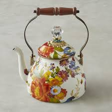 mackenzie childs l mackenzie childs tea kettle 1 8 l flower williams sonoma au