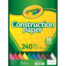 crayola 240 sheets construction paper walmart