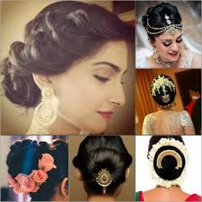 indian wedding hairstyles for mid to long hair