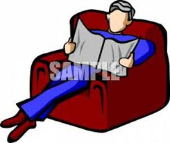 Clipart Armchair Free Clipart Image A Man Relaxing In An Armchair With A Newspaper