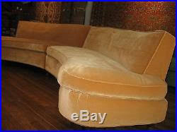 Vintage Sectional Sofa Vintage Curved Mid Century Modern Sectional Sofa Harvey Probber