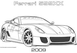 2009 ferrari 599xx coloring free printable coloring pages