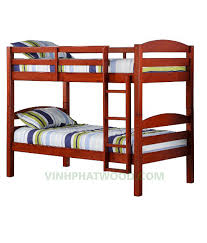 two floor bed wooden bunk beds made in by vinhphatwood factory