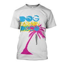 fashion disco vacation t shirt razor to wrist