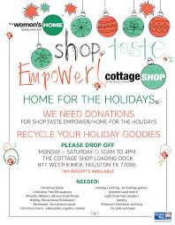 the cottage shophome for the holidays donations the women u0027s home