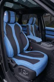 blue range rover interior mansory tweaks the big range rover sport