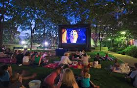backyard movie night rental home outdoor decoration