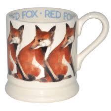 fox mug emma bridgewater new half pint mug red fox amazon co uk kitchen