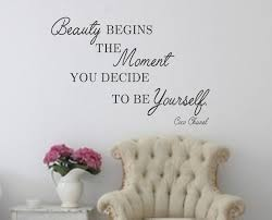 wall decal beauty begins the moment you decide to be zoom