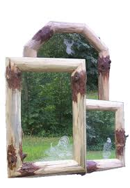 Mirror Frames Rustic Log Picture And Mirror Frames Custom Rustic Mirrors And