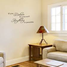 amazon you believe yourself anything possible wall amazon you believe yourself anything possible wall quotes decal sticker diy vinyl lettering home room office decals inspirational