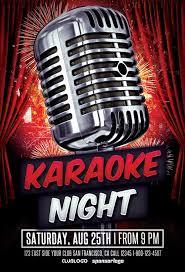 karaoke party flyer template awesomeflyer com