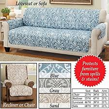 Furniture Protectors For Sofas by Amazon Com Tucson Aztec Furniture Protector Cover Sand Sofa
