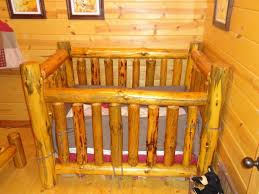 handmade rustic pine log crib by legacy woodshop custommade com
