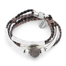 braided leather wrap bracelet images Mini morgan braided leather wrap bracelet in silverplate by lizzy jpg