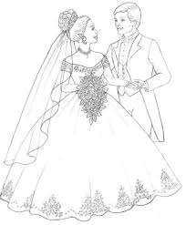 bride and groom coloring pages with regard to inspire to color an