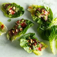 seared steak lettuce cups recipe epicurious com