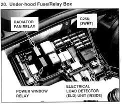 1994 honda accord radiator where is coolant fan relay located on 97 honda accord lx
