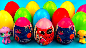 littlest pet shop easter eggs littlest pet shop eggs lps minnie mouse peppa pig cars 2 my