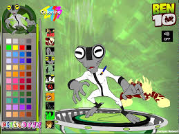 ben 10 colour games 2015