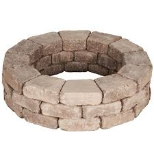 How To Make A Backyard Fire Pit Cheap - fireplace rumblestone fire pit for your outdoor hardscape