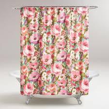 Pink Flower Shower Curtain Best 25 Floral Shower Curtains Ideas On Pinterest Bathroom