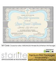 communion invitations for boys communion invitation boy blue grey burlap vintage lace