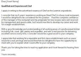 collection of solutions commis chef cover letter sample in summary