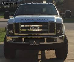 2009 ford f250 lifted wheel offset 2009 ford f 250 duty slightly aggressive