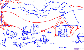 halloween candy background drawn how to draw a graveyard step by step halloween seasonal free