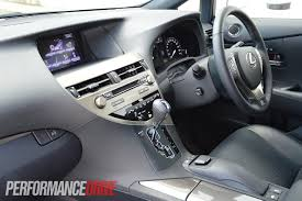 lexus rx 450h interior 2012 lexus rx 450h f sport review performancedrive