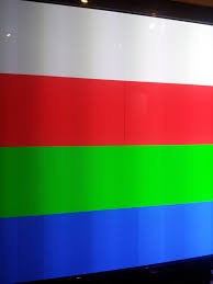 Flag With Red Yellow And Green Vertical Stripes Stumped Samsung Pn50b650s1 Vertical Green Line Of Single