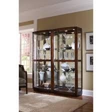 Oak Curio Cabinet Decorating Howard Miller Jamestown Oak Corner Curio Cabinet For