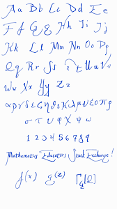 board use what is a good handwriting font for mathematics