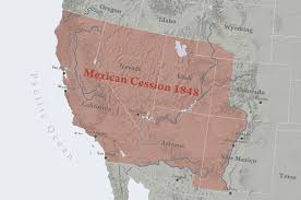 Map Of Southwest Usa States by Mexican Cession Wikipedia