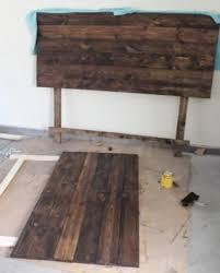 wood headboard ideas for lovable catchy diy rustic headboard best