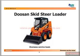 doosan skid steer loader 440 plus service training auto repair