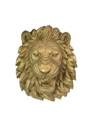 gold lion statues props rent 4
