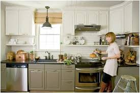 white and taupe lower kitchen cabinets roomology kitchens where the and lower cabinets