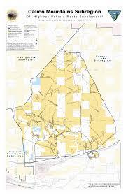 Rubicon Trail Map Blm Calico Subregion 4x4 U0026 Ohv Land Access Maps