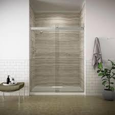 Narrow Shower Doors by Kohler Levity 59 In X 74 In Frameless Sliding Shower Door In