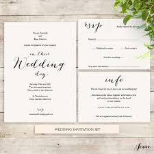 Wedding Stationery Sweet Bomb Wedding Invitation Set Template Connie Joan
