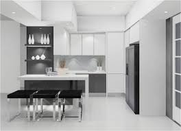 grey and white kitchen decoration using grey white simple modern