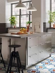 stainless steel kitchen cabinets ikea vårsta kitchen industrial and restaurant inspired ikea ca