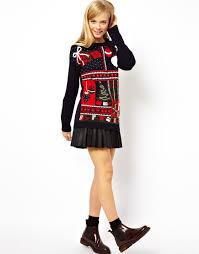 asos vintage look christmas jumper lyst