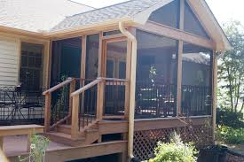 18 screened in deck plans outdoor fireplace archadeck of